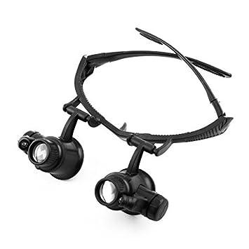 eDealMax Patente autorizado joyería reparación del reloj LED iluminado Headwear 10X 15X 20X 25X de la