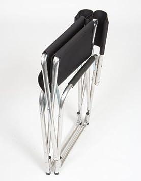 Earth Extra Heavy Duty Folding Director s Chair w Extra Heavy-Duty, Steel Reinforced Frame — Foam Arm Rests for Comfort
