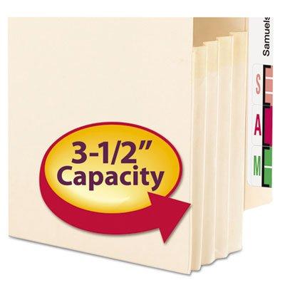 3 1/2'' Accordion Expansion End Tab File Pocket, Straight Tab, Lgl, Manila, 25/Bx, Total 100 EA, Sold as 1 Carton