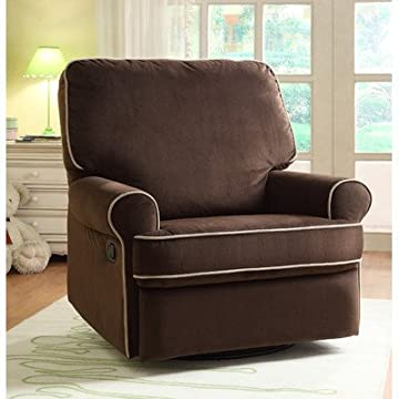 Birch Hill Swivel Glider Recliner Color: Stella Coffee