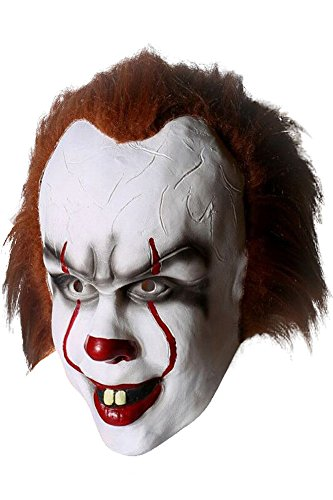 Mesodyn Adult Cosplay Costume Halloween Deluxe Clown Outfit (Only Mask) -