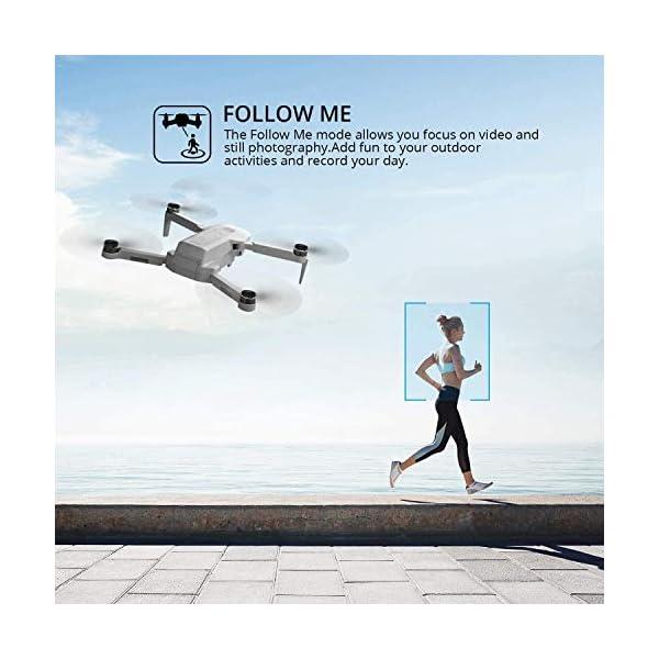 4DRC F8 Drone con Telecamera 4K UHD Drone GPS Pieghevole FPV RC con Ritorno Automatico a Casa, modalità Ritorno Home,Seguimi, Controllo Gestuale, 2 Batterie per 40 Minuti Volo e Valigetta da Trasporto 4 spesavip