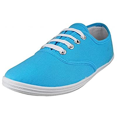 EasySteps Women's Canvas Lace Up Shoes with Padded Insole, Turquoise Azul, US Women's 11 B(M) US