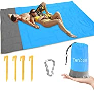 Picnic Blanket 79 * 55inch, Compact Sand Proof and Waterproof Beach Blanket, with Portable Storage Bag, Great