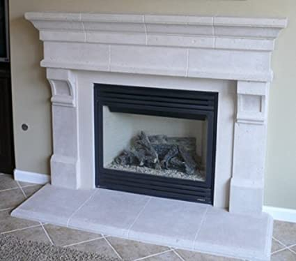 Amazon Com Pinnacle Precast Fireplace Mantel And Surround In Paint
