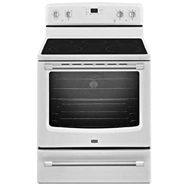 Maytag MER8700DH 30 White Electric Smoothtop Range Convection