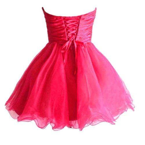 Kleid Edaier Cocktail Mini kurze Heimkehrkleid Wulstige Dunkelrosa Party Damen nBpqz6