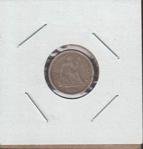 1860 O Liberty Seated (1837-1873) Half Dime Fine -