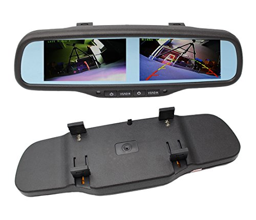 "(800x480 HD Dual Screen Mirror Monitor, 4.3"" Rearview Backup TFT LCD Display 4-Channel Video Input for Car Rear Front Side View Cameras)"
