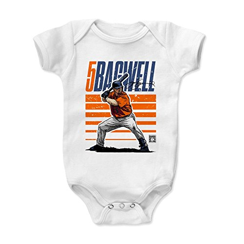 500 LEVEL Jeff Bagwell Baby Clothes, Onesie, Creeper, Bodysuit 18-24 Months White - Vintage Houston Astros Baby Clothes - Jeff Bagwell Starter O ()