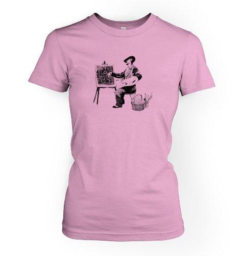 Banksy By Big Mouth - Camiseta - camisa - Mujer rosa claro