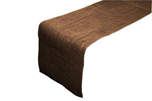 ArtOFabric Burlap Table Runner / 12 X 72-Inch (Brown)