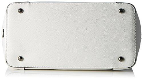 Sansibar Damen Henkeltasche, 15x29x31 cm Weiß (Weiß (White))