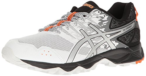 ASICS Men Gel-Sonoma 3 Running Shoe White/Silver/Hot Orange