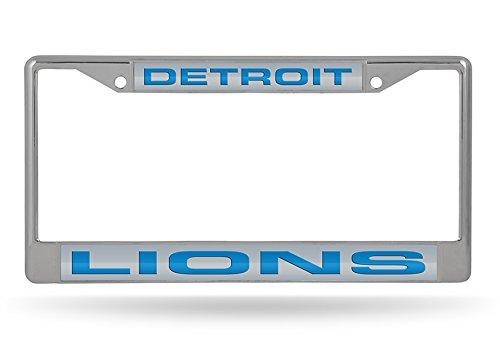 - NFL Detroit Lions Laser Cut Inlaid Standard Chrome License Plate Frame