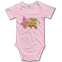 Kids SpongeBob SquarePants Baby Bodysuits Onesies Unisex Boys Girls 100% Cotton