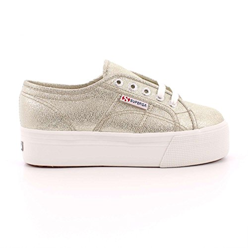 SUPERGA low S009TC0 platform sneakers shoes 340 2790 LAMEW Platinum v1NoGf89