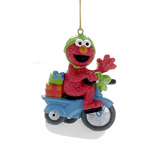 Kurt Adler Christmas Elmos on a Scooter Ornament