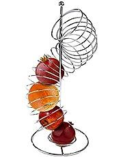 Mind Reader OHTWIST-SIL Spiral Fruit Basket, Stainless Steel, Silver