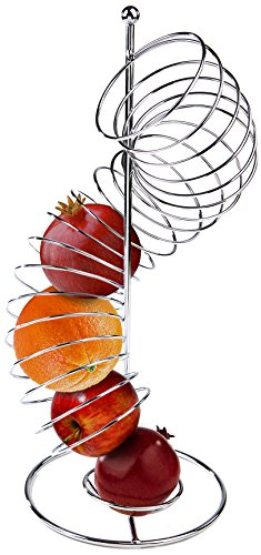 Mind Reader Spiral Fruit Basket, Stainless Steel