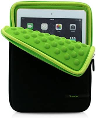 X-super Compatible Ipad Pro 9.7 Shockproof Pouch Neoprene Replacement Sleeve Case Cover Protective Pouch Organizer (Green)