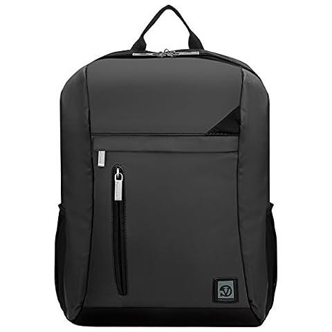 VanGoddy Metallic Grey with Black Trim Laptop Backpack for MSI Prestige / GT Series (Msi Gt70 Gtx980)