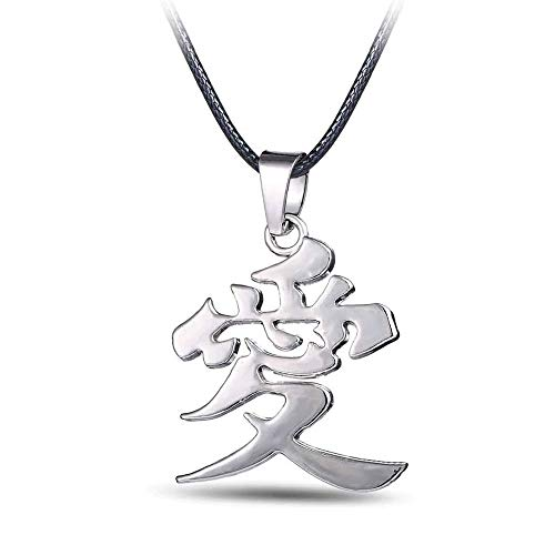 Give Gift Naruto Anime Kanji Mark Head Gaara Necklace Pendant Cosplay Jewelry ()