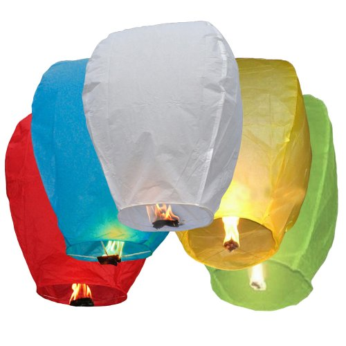 (SKY LANTERNS 6 Pack - Assorted Colors)