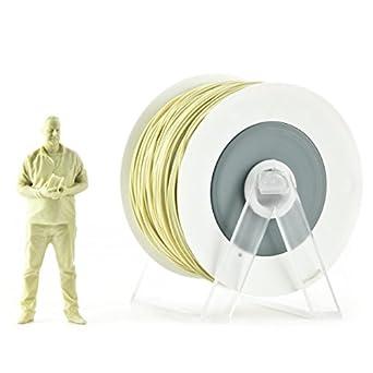 Filamento PLA EUMAKERS diámetro de 1,75 mm para impresoras 3D Bobina de 1Kg Color Amarillo arena metálico