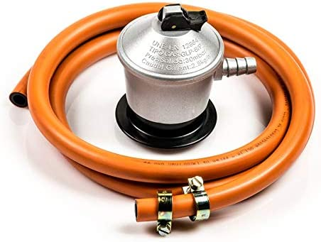 Com Gas 000415 000415-Kit Blister 1,5 MT, Manguera y regulador 30 gr, 11x16x21 cm