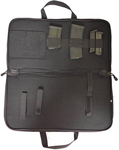 TufForce 25 x 11 x 3 Rectangular Gun Case for AR, AK Pistol Keltec 2000 Mos.715P, Pap M92 case. Black, TG-GP25B