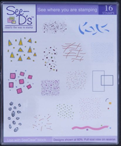 - See D's Mini Deco Backgrounds 16 Rubber Stamps and Case # 50005 Inque Boutique SugarLoaf