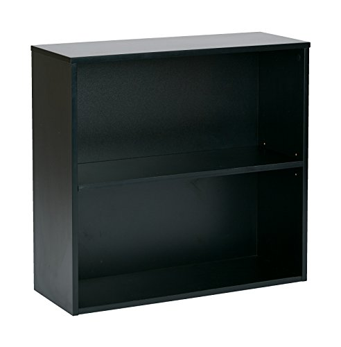 Pro-Line II / OSP Designs Prado 2 Shelf Bookcase, 30-Inch, Black