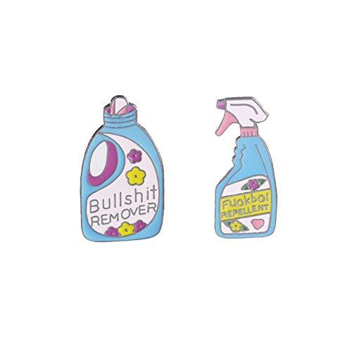 (Sunvy Fashion Novelty Detergent Bottle Enamel Brooch Pin For Clothes Bag Hat decoration)