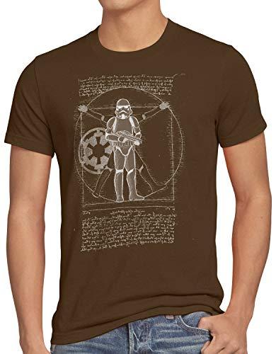 hombre Camiseta Galactic Da Hormiga Trooper Brown Vinci Storm para Vitruvian qF1YXdw