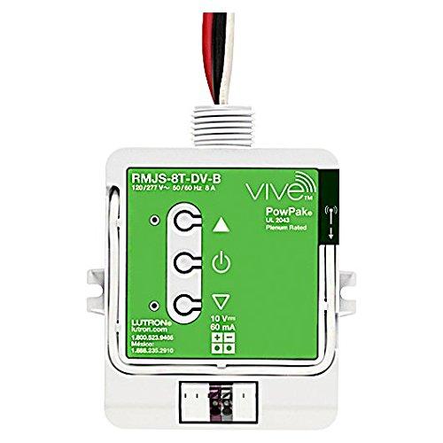 Lutron Fluorescent Dimmer - Lutron PowPak RMJ-5T-DV-B - Wireless Dimming Module - Operates 0-10V Fluorescent Ballasts or LED Drivers - 120-277 Volt