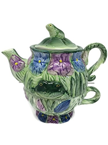 Silvestri Tea For One Stacking Teapot and Cup Frog