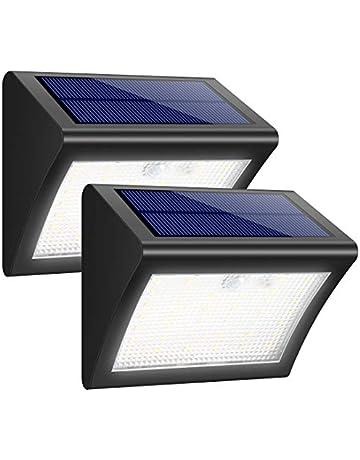 iPosible Foco Solar, 38 LED Luces Solares 1500mAh Lámparas Solares de Pared Impermeable,Luz