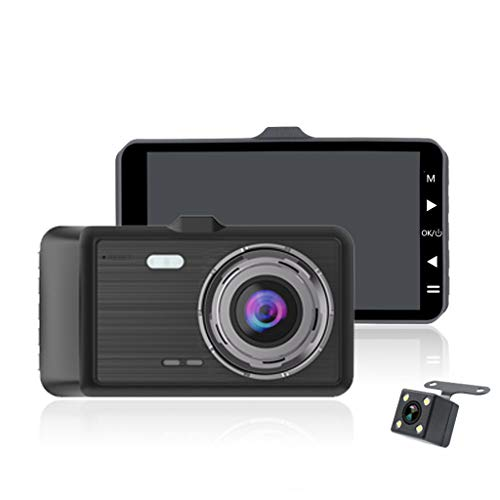 MChoice❤️4in 1080P Dual Lens Car Dashboard DVR Video Recorder Dash Cam + Rearview Camera Black (Component Dvr)