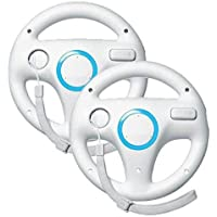 Mario Kart Racing Wheel para Nintendo Wii, 2 juegos blanco color paquete
