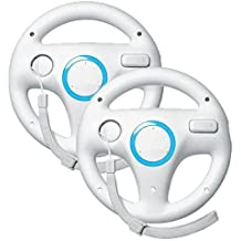 Zettaguard Mario Kart Racing Wheel for Nintendo Wii, 2 Sets White Color Bundle