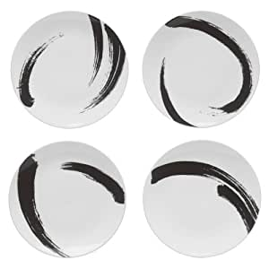 Mikasa Brushstroke Accent Plate, 9.5-Inch, Set of 4