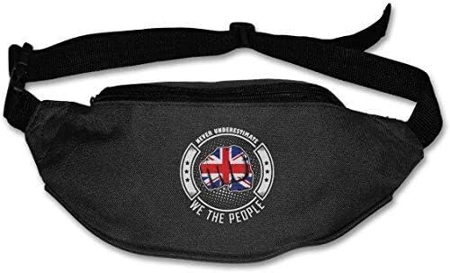 決して英国人を過小評価しないWe The People Unisex Outdoors Fanny Pack Bag Belt Bag Sport Waist Pack