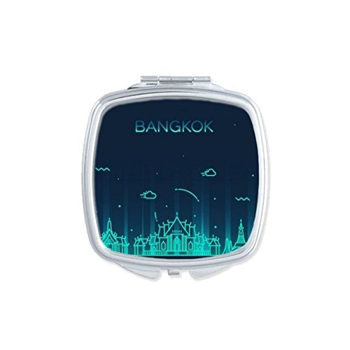 Kingdom of Thailand Thai Traditional Customs Culture Shadow Bangkok Art Illustration Square Compact Makeup Pocket Mirror Portable Cute Small Hand Mirrors by DIYthinker