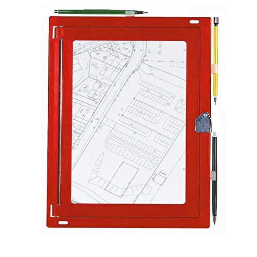 sehr robust Kunststoff rot Feldbuchrahmen DIN A4