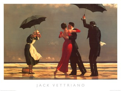 Posters: Jack Vettriano Poster Art Print - The Singing Butler