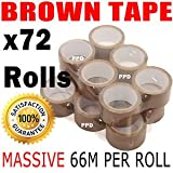 "PPD 72 X Roll Buff Brown 48mm X 66M Meter Packaging Packing Tapes Parcel 2"" Tape New"