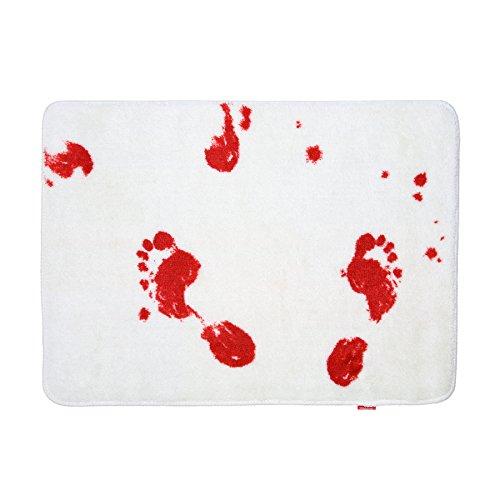 Blood Bath Mat (Gruesome Halloween Ideas)