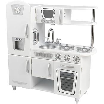 Amazon Com Kidkraft Vintage Kitchen White Toys Games