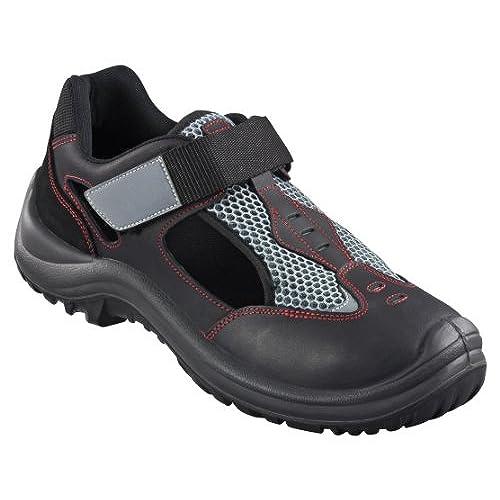 Kick Footwear Mens Bases de Acero Puntera de Seguridad de Encaje de Trabajo Ligero Entrenadores,punta de Acero - REINO UNIDO 10/UE 44, Negro